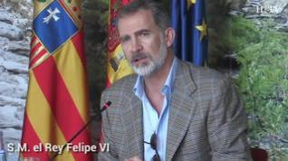 """Felipe VI: """"Aragón va a dar muestra de ese arrojo que tantos frutos ha dado a España"""""""