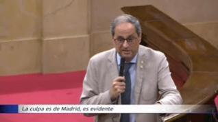"""Torra, ante los reproches por el brote de Lérida: """"La culpa es de Madrid, evidentemente"""""""