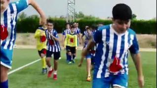 """El CD Calanda recuerda a Del Bosque lo """"felices"""" que hizo a los españoles con 'la Roja'"""