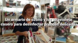 Un armario de ozono y luz ultravioleta para desinfectar las prendas delicadas