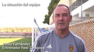 """Víctor: """"El fútbol va a ser justo con el Real Zaragoza"""""""
