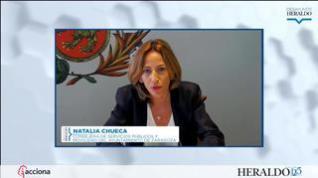 """Natalia Chueca: """"Trabajamos en velar porque el transporte público de Zaragoza sea seguro"""""""