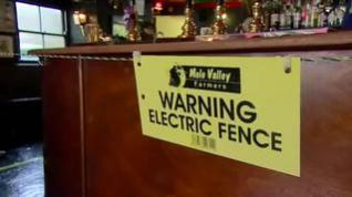 Un pub en Inglaterra coloca una valla electrificada para mantener la distancia de seguridad