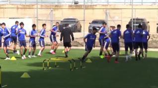El Zaragoza entrena mirando al partido contra el Albacete