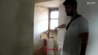 Un joven convierte un piso okupa en Huesca en un hogar para una familia refugiada