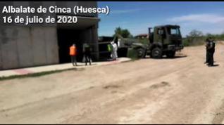 El Ejército despliega 30 militares en Albalate de Cinca