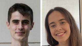 Diego Recaj y Natalia Robres han logrado la mayor nota de la Evau en Aragón en 2020.
