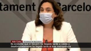 """Colau: """"El Govern ha llegado tarde a Lleida y desafortunadamente al área metropolitana"""""""
