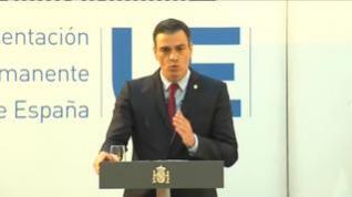 """Pedro Sánchez: """"Es un gran acuerdo para España, logramos 140.000 millones"""""""
