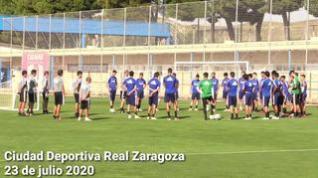 El Real Zaragoza continúa entrenándose en la Ciudad Deportiva