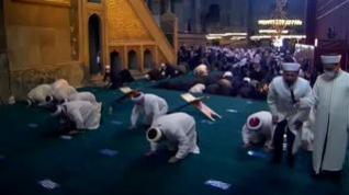 Primer rezo musulmán en Santa Sofía tras su reapertura como mezquita