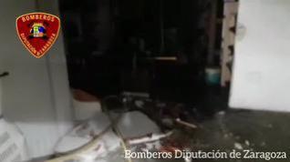 Un herido grave por la explosión de una bombona de butano en El Burgo de Ebro