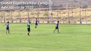 El equipo ha trabajado en tres campos con siete jugadores en cada uno de ellos.
