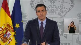 """Sánchez a los españoles: """"Agradezco su profundo sentido de la solidaridad"""""""