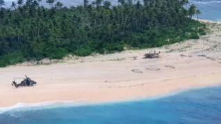 Rescatados después de tres días en una isla desierta