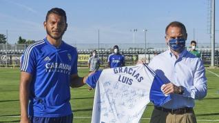 Despedida de Luis Suárez del Real Zaragoza