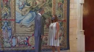 El rey recibe en el Palacio de la Almudaina a las autoridades baleares