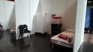 Cruz Roja ultima los preparativos en la Multiusos para acoger a asintomáticos