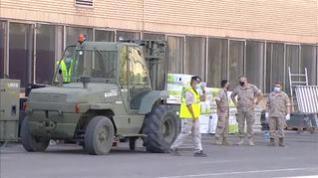 El Ejército empieza a instalar en el Clínico una carpa de triaje para pacientes