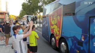 El Real Zaragoza llega al estadio de La Romareda