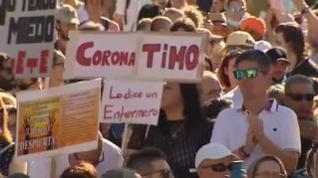 Cientos de personas se manifiestan en Madrid en contra de las medidas de la covid-19