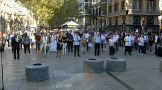 Barcelona recuerda a las víctimas del atentado del 17A