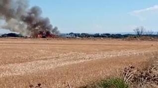Incendio en Poleñino (Huesca)