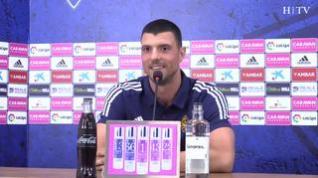 """Vuckic: """"Tengo muy claro que el objetivo del Real Zaragoza es el ascenso"""""""