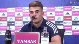 """Chavarría: """"El objetivo del Zaragoza es ascender, no le tengo miedo a nada"""""""