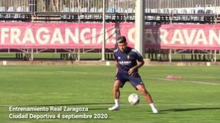 Primer entrenamiento del Real Zaragoza con Narváez