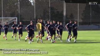 Nuevo entrenamiento conjunto del Real Zaragoza