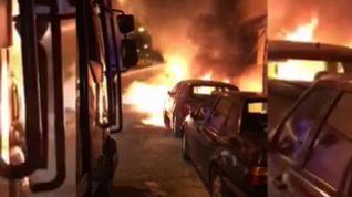 Incendio de contenedores en Zaragoza