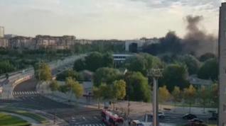 Extinguido un incendio en la azotea del restaurante Aura de Zaragoza