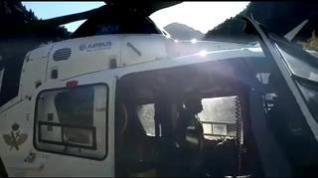 Rescate de un montañero francés en los ibones de Arriel (Sallent de Gállego)