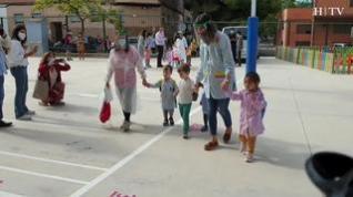 Primer día de colegio para los niños de 2 y 3 años en Aragón