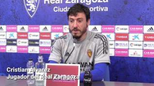 """Cristian Álvarez, del Real Zaragoza: """"Creo que hay un buen equilibrio entre veteranos y jóvenes"""""""