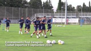 Nuevo entrenamiento en común del Real Zaragoza