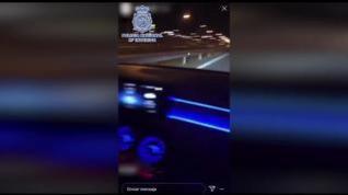 Detenido tras publicar en redes que conducía a más de 200 km/h