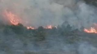 Brigadas helitransportadas extinguen un incendio en los montes de Castiliscar