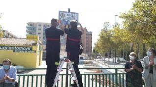 El bombero más querido de Zaragoza, Don Augusto, ya tiene una calle en su ciudad