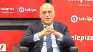 """Javier Tebas: """"Seguro que se acaba viendo LaLiga lunes y viernes"""""""