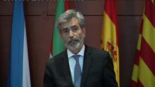 """Lesmes manifiesta el """"enorme pesar"""" del Poder Judicial por la ausencia del rey en la entrega de despachos"""