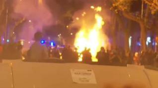 Seis detenidos en las protestas por la inhabilitación de Torra