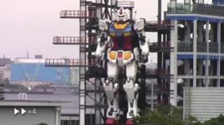 Japón muestra un impresionante robot gigante para los JJOO de Tokio 2021
