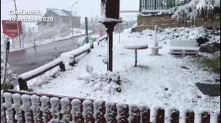 Candanchú, tras las lluvias del viernes amanece con importantes nevadas