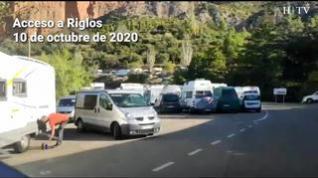 Vuelven las aglomeraciones de turistas a Riglos en el puente del Pilar