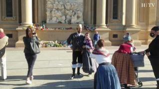 Así se ve la plaza del Pilar de Zaragoza en el día grande de las 'NO Fiestas'
