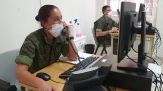 """Rastreadores militares: """"La motivación es muy alta, queremos terminar con esta pandemia"""""""