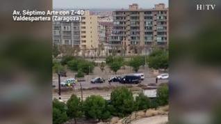 Atasco en la entrada y salida de Zaragoza debido a los controles