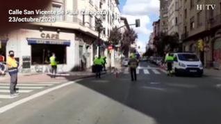 Cortado al tráfico un acceso a San Vicente de Paúl tras un escape de gas